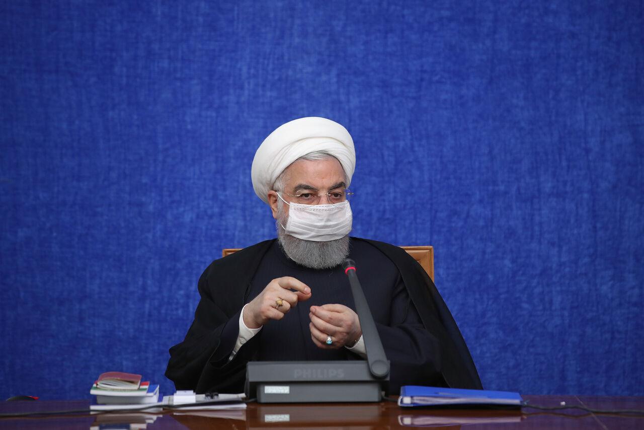 روحانی: دشمن میخواست به بهانه کرونا کشور را تعطیل کنیم